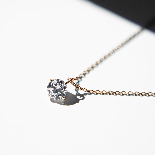 NECKLACE K18PG 0.25ct /LAB GROWN DIAMOND