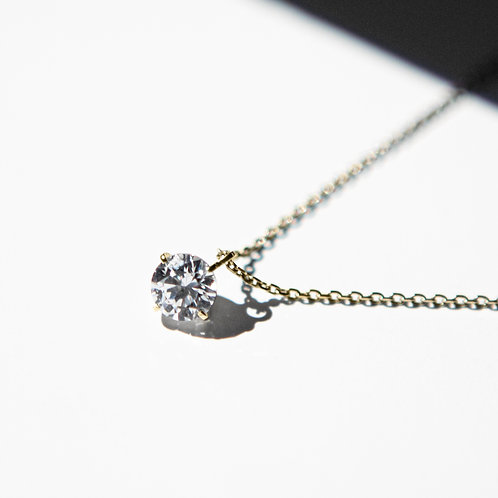 NECKLACE K10YG 0.15ct /LAB GROWN DIAMOND