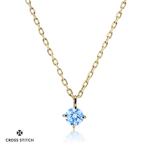 NECKLACE K10YG 0.10ct /  Diffusion Blue
