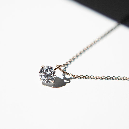 NECKLACE K10PG 0.10ct /LAB GROWN DIAMOND