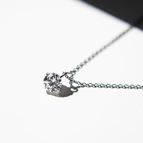 NECKLACE K10WG 0.20ct /LAB GROWN DIAMOND