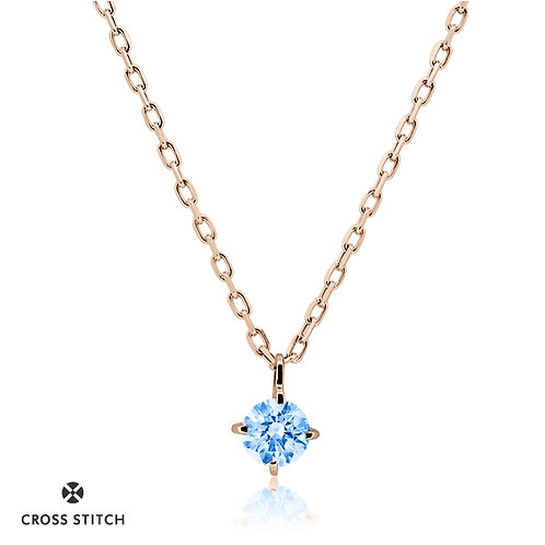 NECKLACE K10PG 0.10ct /  Diffusion Blue