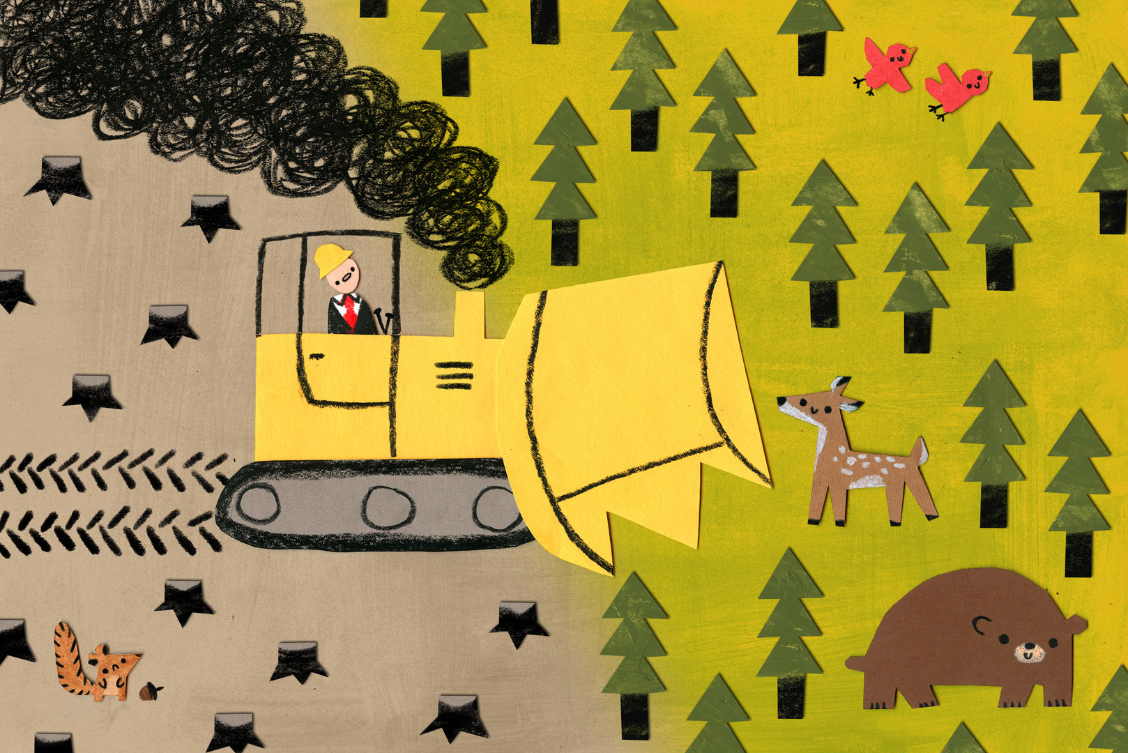 Editorial piece for an article on how the U.S. government is taking away public land.