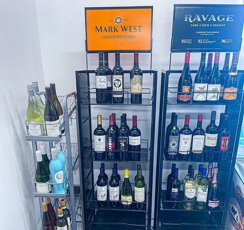 Nic's gas & go Wine selection
