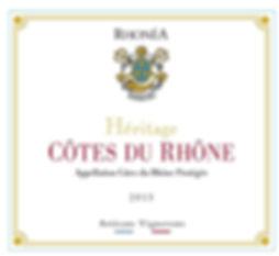 ET - Héritage Rhonéa - CDR - 75 cl 2015.
