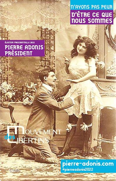 Pierre Adonis candidat officiel élection présidentielle 2022 france contre le pass sanitaire