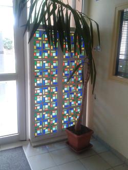 Cloison en vitrail arabe de l'école St Joseph