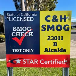 Main C&H Smog sign