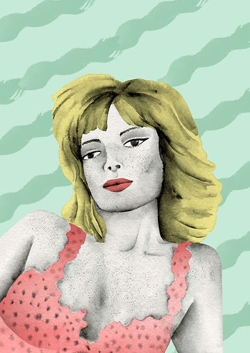 laura angelucci illustration monica vitti
