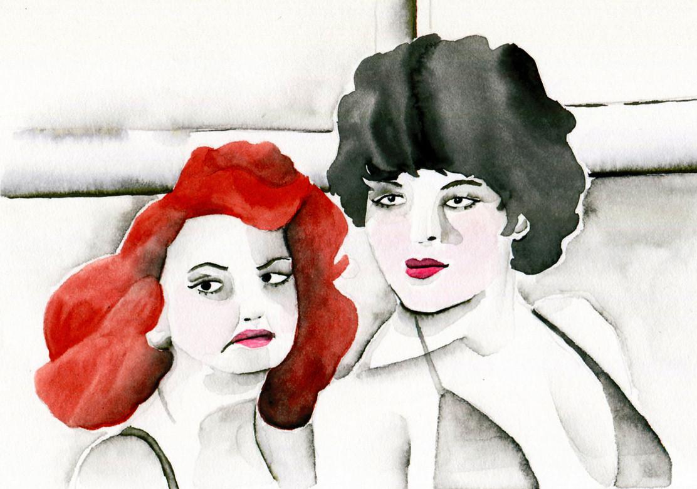 Sdegno, acquerello 2017