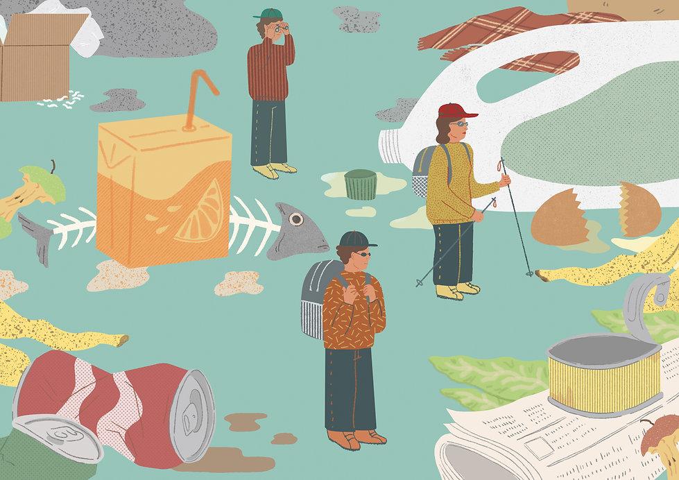 Trash illustration