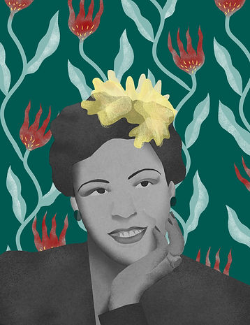 Billie holiday laura angelucci illustration