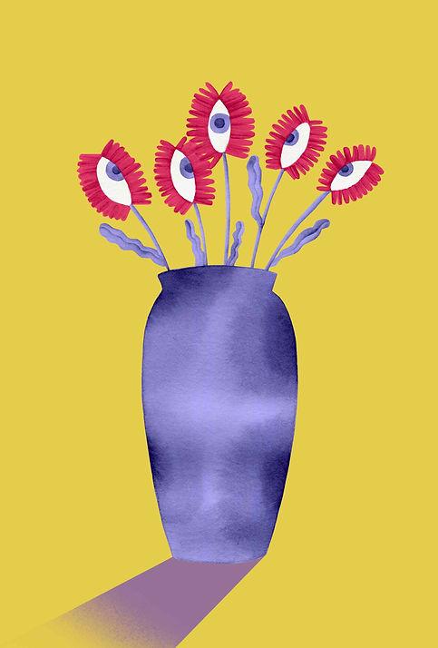 Laura angelucci illustrazione vaso fiori