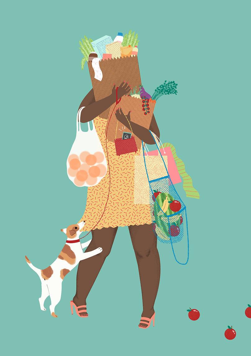 laura angelucci illustration illustrazione shopping woman