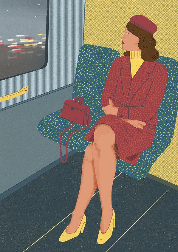 Laura angelucci illustration train