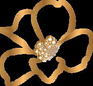 Blüte_Aquarell_gold-dünn_Format wie Flye