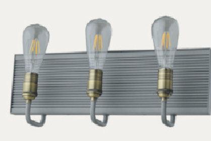 JH108B-3W Vanity Light - Grey+Brushed Aluminum