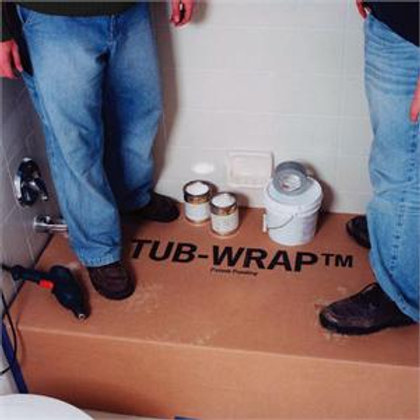 "TubWrap Shower Pan 59.5""x32"" Swanstone"