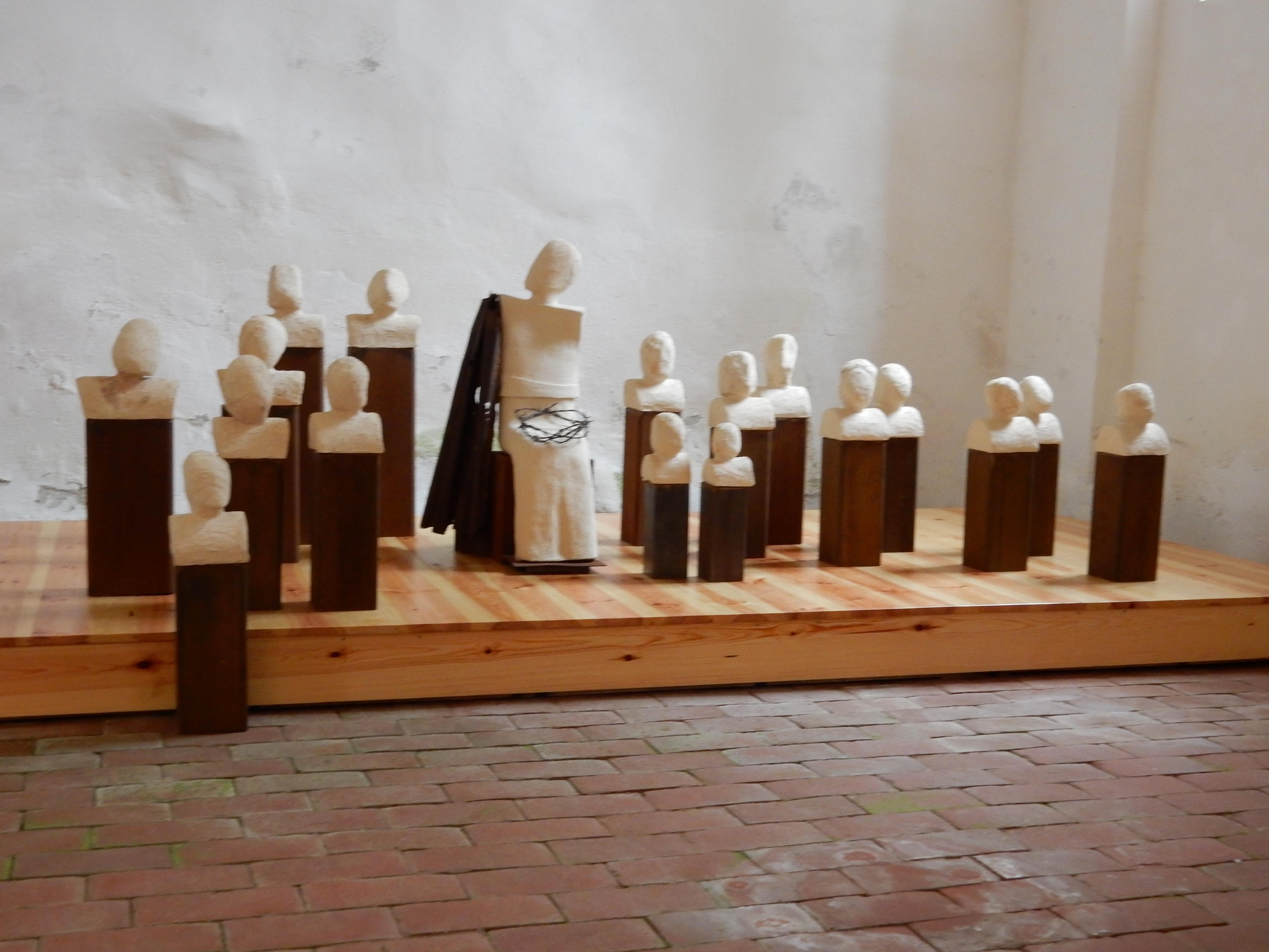 Mit Maria, Skulpturengruppe