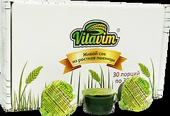 Упаковка сока ростков пшеницы в стаканчиках