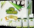 Упаковка сока ростков пшеницы в бутылочках