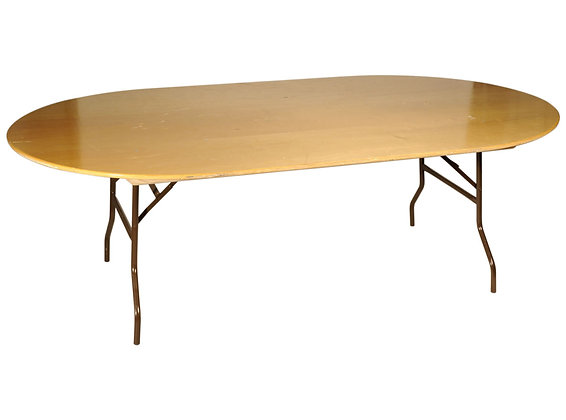 Table ovale 2.70x0.60m   10/12pers