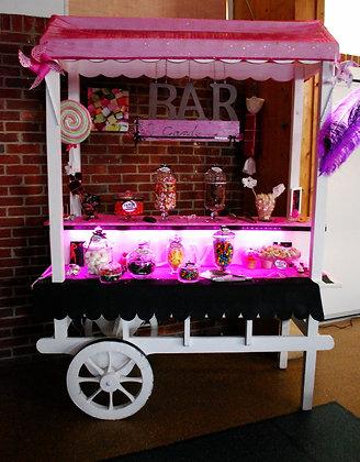 Chariot Candy-Bar avec Bonbonnières