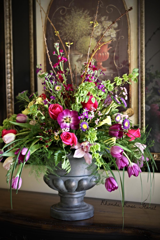 Rhonda Rose Floral Spring Urn