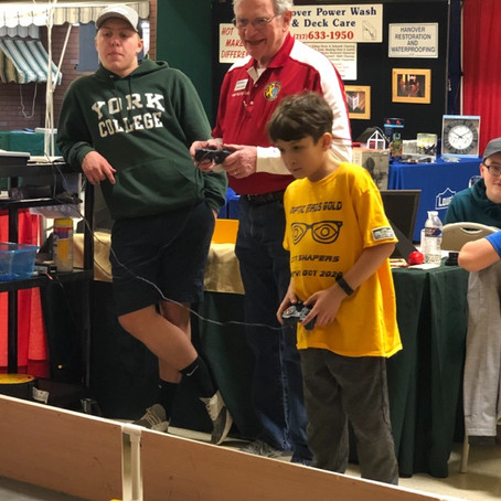 Kids of All Ages Drive Robots at the Builders' Home and Garden Show