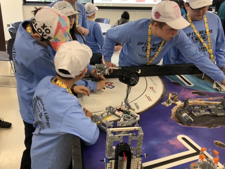 Optic Nerds Celebrate Victory at FIRST Lego League Championship