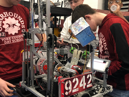Students visit a FIRST Tech Challenge Championship Competition