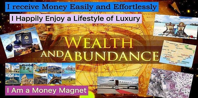 Wealth and Abundance Vision Board