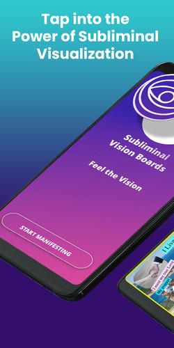 Subliminal Vision Boards - Main Screen