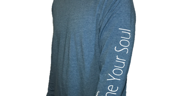 Deep Heather Teal Soothe Your Soul Long Sleeve