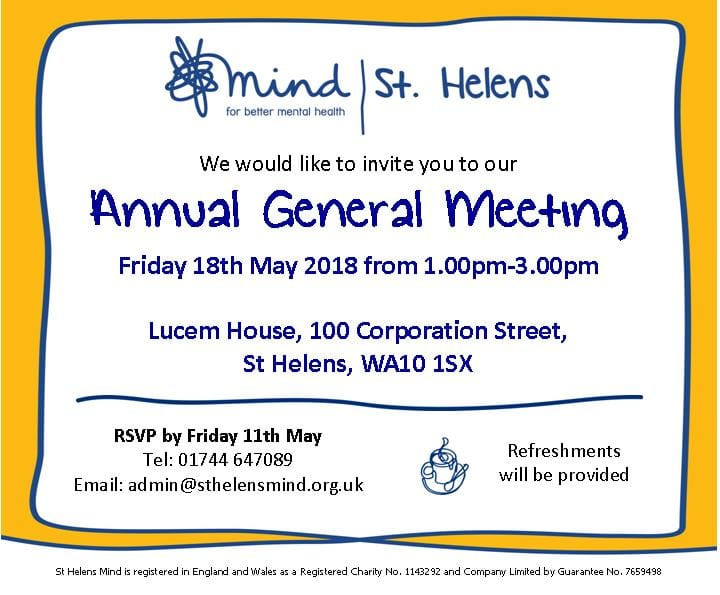 Join us for our Annual General Meeting and find out more about our work in the fantastic setting of this great community resource.