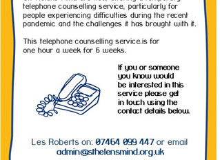 Let us help with our new counselling service