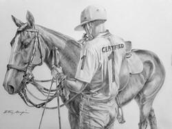 Equestrian portrait of M.Borrico