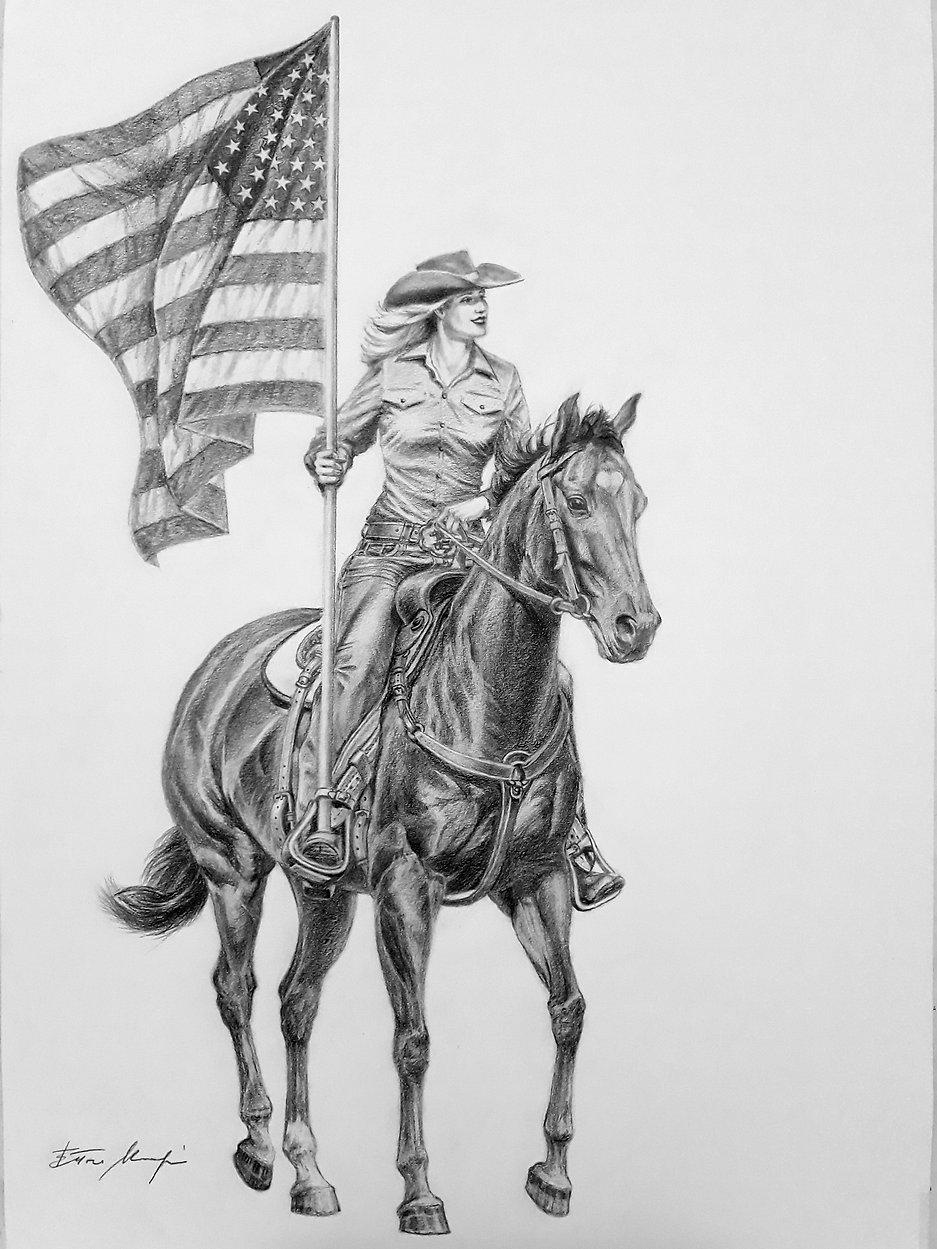 AMERICAN COWGIRL , 70 X 50 CM..jpg