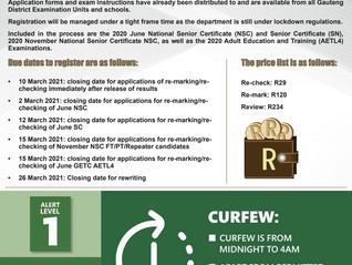 DEADLINE FOR EXAM RE-MARK AND RE-CHECK REGISTRATION