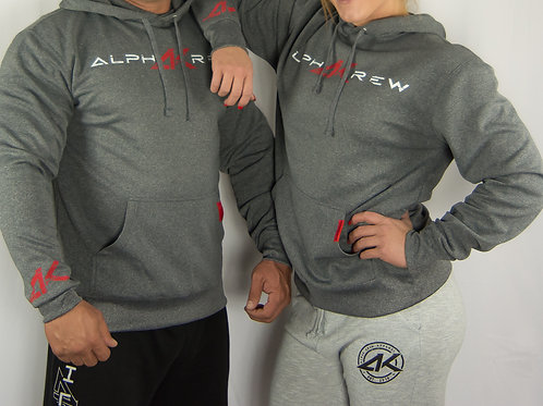 Charcoal Performance Pull-over Hoodie FITTED (Unisex)
