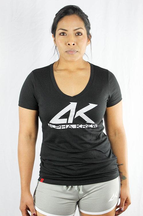 Blk/Wht AK Womens V-Neck