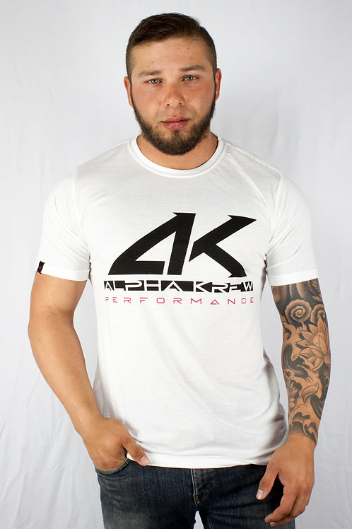 Wht AK Athletic Fit Tee