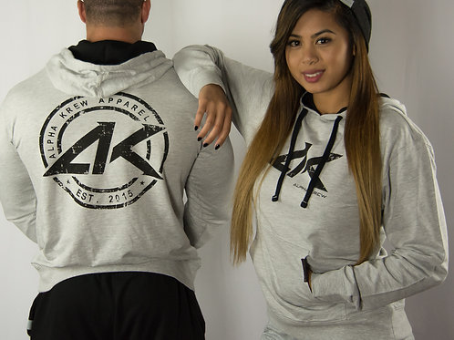Gray Pull-over Hoodie (Unisex)