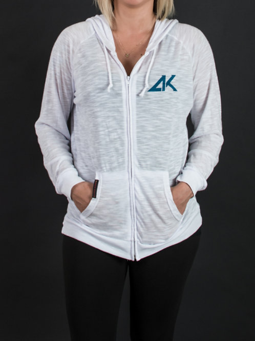 Wht Soft Womens Zip-Up Hoodie