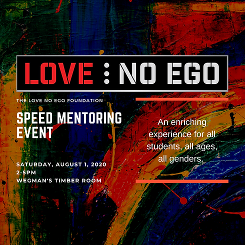 Love...NoEgo Youth Speed Mentoring Event