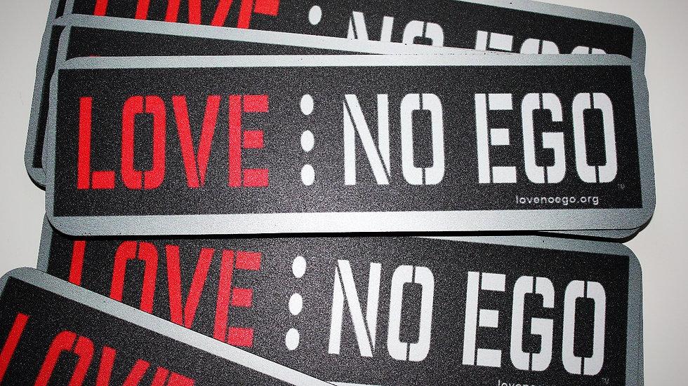 The Love No Ego Bumper Magnet