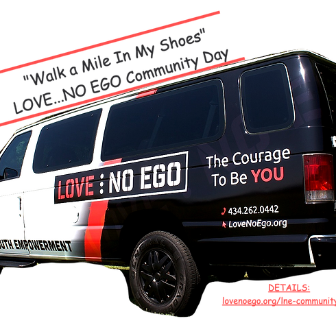 Walk a Mile In My Shoes LOVE...NO EGO Community Day