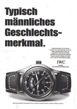 Texter Freelancer IWC Uhren Werbung Peter Rettinghausen
