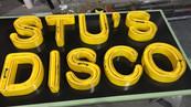 Stu's Disco Signage