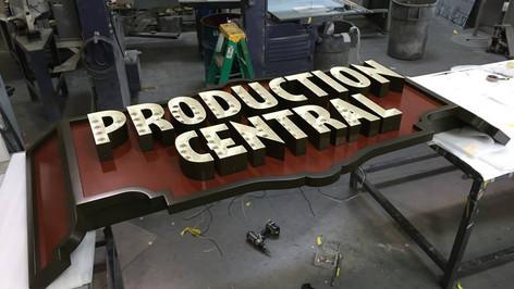 Production Central Storefront Signage